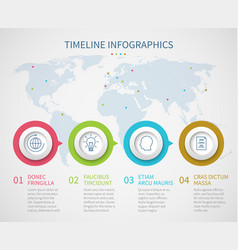 business chart timeline with process steps vector image vector image