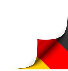Curled Paper Corner with Germany Flag Background vector image vector image
