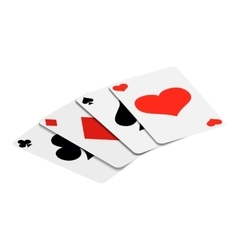 Playing Cards isometric 3d icon vector image vector image
