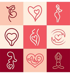 pregnancy logo icons vector image
