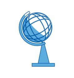 School globe map atlas learning geography vector