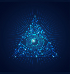 triangel eye vector image