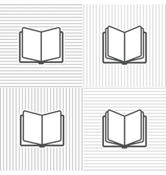 Book icons on stripped background vector image vector image