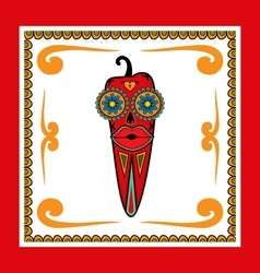 Day of the Dead Pepper vector image vector image