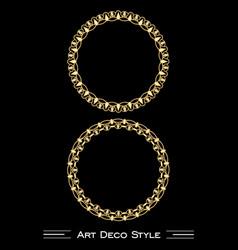 Elegant antiquarian golden circle frames in art vector