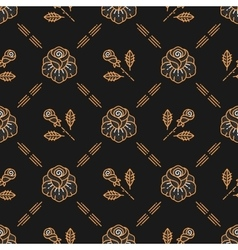 floral seamless pattern Roses line art vector image vector image