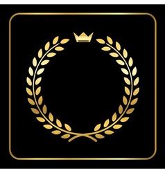 Gold laurel wheat wreath icon crown vector image vector image