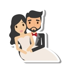 just married couple character vector image