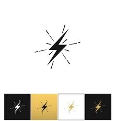 Lightning thunderbolt sign or strike electric bolt vector