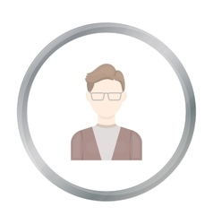 Man with glasses icon cartoon Single avatar vector image