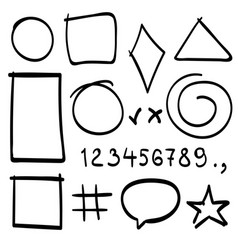 sketch symbols sign sketch figure icons vector image vector image