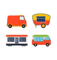 Trailer house vector image