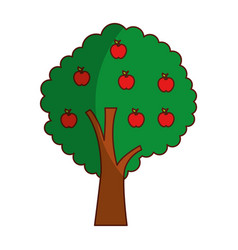 Apple tree plant isolated icon vector