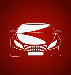 Auto in red vector image vector image