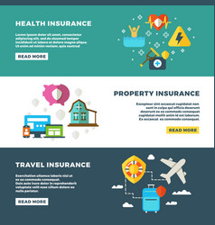 Business insurance banking services and safety vector