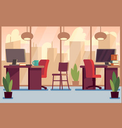 corporate business office stylish modern interior vector image
