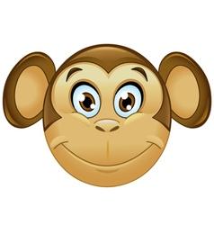 monkey emoticon vector image