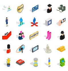 perfect body icons set isometric style vector image vector image