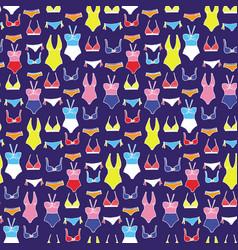 Seamless pattern with hand drawn underwear vector