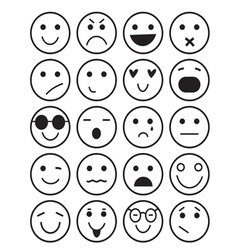 Smilies icons different emotions vector image vector image