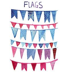 Watercolor Flags vector image