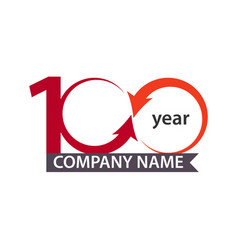 100 year company template design vector