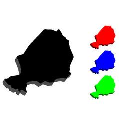 3d map of niger vector