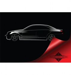 Abstract car background vector