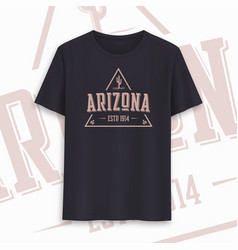 arizona state graphic t-shirt design typography vector image