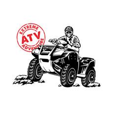 Atv buggy racing adventure sport vector