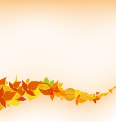Autumn falling leaves background vector