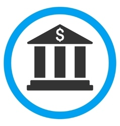 Bank Building Flat Rounded Icon vector
