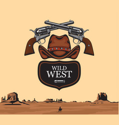 banner on theme wild west vector image