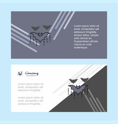 bat abstract corporate business banner template vector image