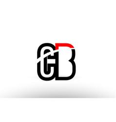 Black white alphabet letter cb c b logo icon vector