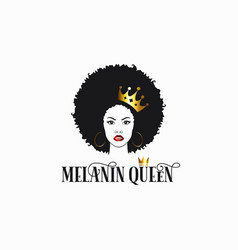 black women with crown melanin queen royalty vector image