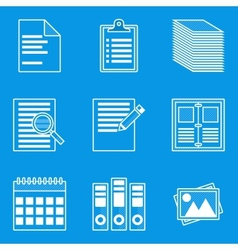 Blueprint icon set Paper vector