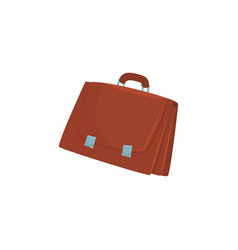 brown briefcase with two locks cartoon vector image
