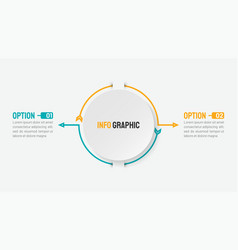 business infographic concept with 2 options vector image
