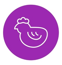 Chick line icon vector