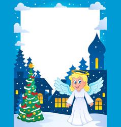 Christmas topic frame 1 vector