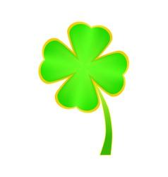 Clover four leaf for saint patricks day vector