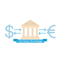 currency exchange business flat poster concept vector image