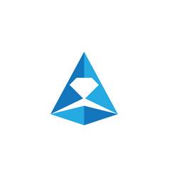 diamond logo template vector image