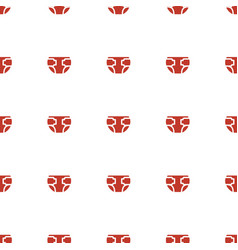 diaper icon pattern seamless white background vector image