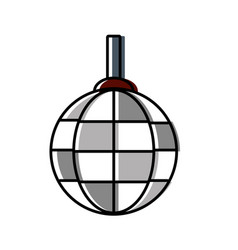 Disco lamp icon vector
