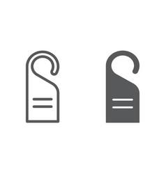 door hanger line and glyph icon hotel and hanger vector image