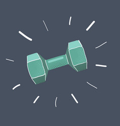 dumbbell icon on vector image