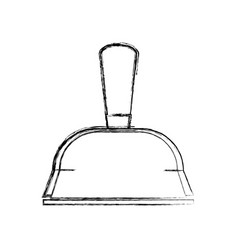 Figure dustpan domestic equipment to clean home vector