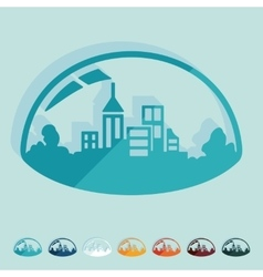 Flat design domed city vector